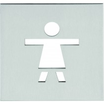 "SQUARE LSQP100E pictogram ""vrouw"" mat roestvast staal"