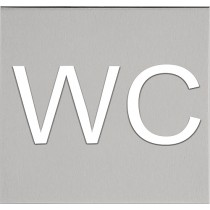 "SQUARE LSQP100L pictogram ""WC"" mat roestvast staal"
